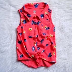 🌺Old Navy Collared Floral Print Tank Size 5T🌸